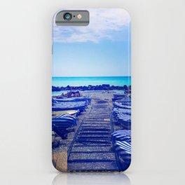 Beach Ventimiglia | Ventimiglia Italy travel photography | Bright and blue colored photo art print iPhone Case