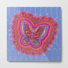 Butterfly with Detail Metal Print