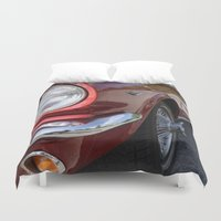 mustang Duvet Covers featuring Mustang by Inphocus Photography
