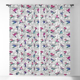 Windsong Watercolor Blackout Curtain