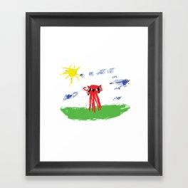 Octocat Happy Framed Art Print