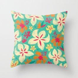 Tropicana floral Throw Pillow