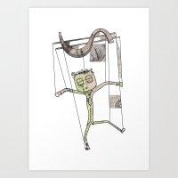 Money controls Art Print