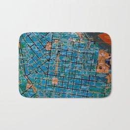 Odessa antique map, colorful mas, classic artwork Bath Mat