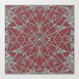 Snowflake Red Canvas Print