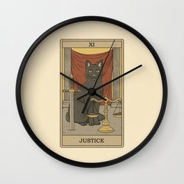 Justice - Cats Tarot Wall Clock
