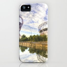 West Ham Olympic Stadium And The Arcelormittal Orbit Art iPhone Case