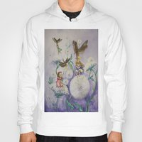 fireflies Hoodies featuring Girls and Fireflies by SandraSueSteiner