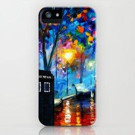 Tardis Art Painting Starry Night iPhone Case