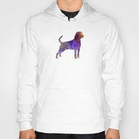 rottweiler Hoodies featuring Rottweiler in watercolor by Paulrommer