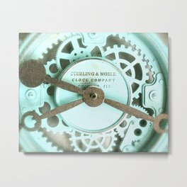 Clockwork Aqua Metal Print