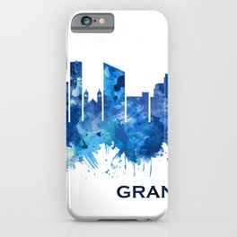 Grand Rapids Michigan Skyline Blue iPhone Case