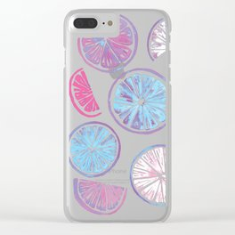 Citrus Wheels - Plum and Berry Clear iPhone Case