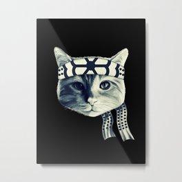 Karate Cat Metal Print