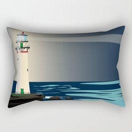Lighthouse Night Background Rectangular Pillow