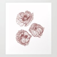 poppies Art Prints featuring Poppies by Annike