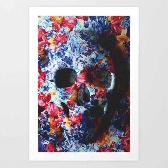 Skull (light version) Art Print