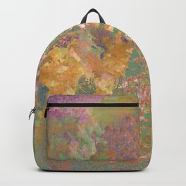 Purple and Gold Abstract Garden Backpack