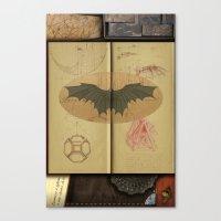 da vinci Canvas Prints featuring Leonardo da Vinci by Eva Nev