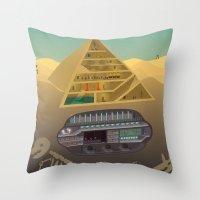 egypt Throw Pillows featuring Egypt by Xènia Castellví