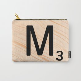 Scrabble Letter M - Large Scrabble Tiles Carry-All Pouch