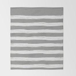 Black Diamonds Gross Stripes /Strokes/Lines Throw Blanket