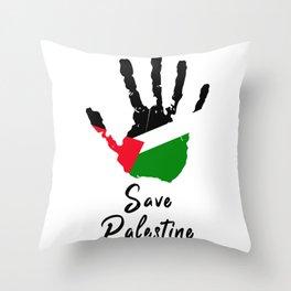 Save Palestine | Stop Terrorism (2021) Throw Pillow