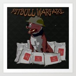 Pitbull Warfare Art Print