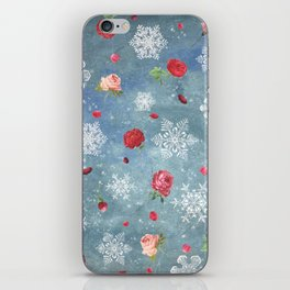 Snow and Roses iPhone Skin