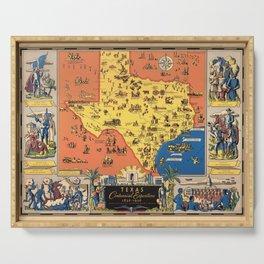 Vintage Poster, Texas Centennial Exposition 1830-1936 Serving Tray