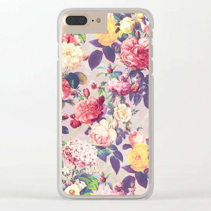 Floral G Clear iPhone Case