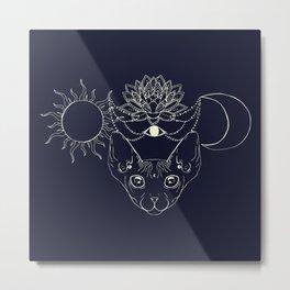 Moonight cat Metal Print