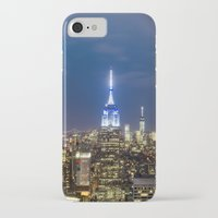 new york city iPhone & iPod Cases featuring New York City, New York by Stuart Saunders