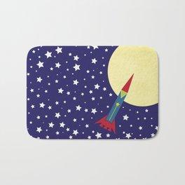 Rocket To The Moon Bath Mat