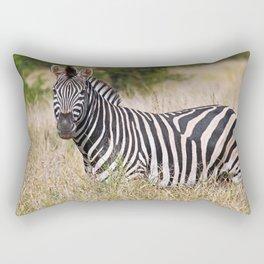 Zebra in the grass - Africa wildlife Rectangular Pillow