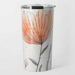 flor naranja Travel Mug