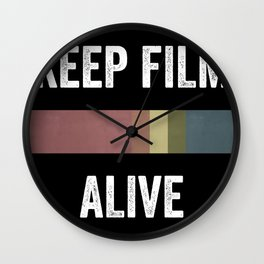 Keep Film Alive Poster Wall Clock