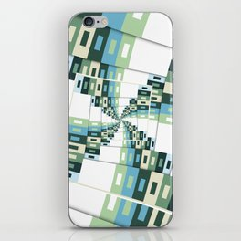 Retro Geometric Rotation iPhone Skin