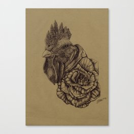 The Petalled Cock  Canvas Print