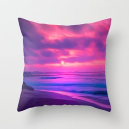 Rayleigh Scattering Beach | Painting  Throw Pillow