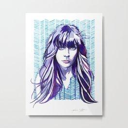 Zooey Metal Print