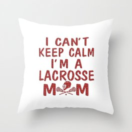 I'M A LACROSSE MOM Throw Pillow