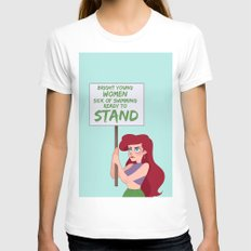 Protest Princess: Ariel Womens Fitted Tee LARGE White