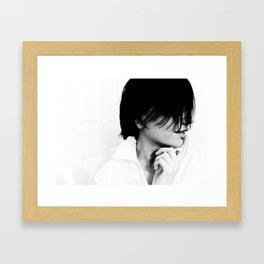 white out Framed Art Print