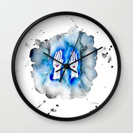 Resurrected with Scars Wall Clock