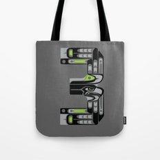 Seattle 3 - Black Tote Bag