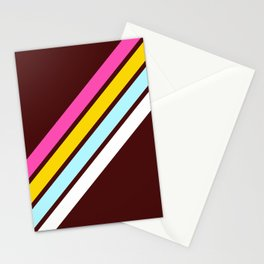 80's Style Retro Stripes Stationery Cards