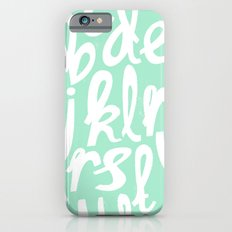 MINT ALPHABET iPhone 6s Slim Case