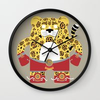 jaguar Wall Clocks featuring Jaguar by EinarOux
