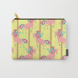 Pink Unicorn Carousel Carry-All Pouch